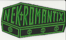 Nekromantix-Coffin Logo Embroidered Patch Green