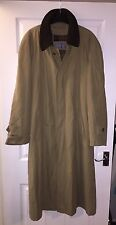 Men's Bugatti Trench Coat Size M (38R) Detachable Inside Fleece Designer Long