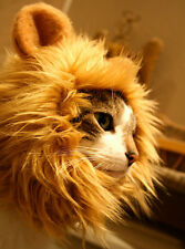 Pet Costume Lion Mane Wig For Cat Dog Christmas Clothes Fancy Dress up with Ears