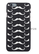iPhone 6 6S Moustache Pattern Hard Plastic Printed Back Case Cover