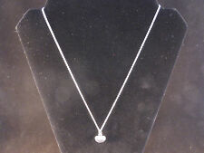 925 Silver Solid Mini Heart Pendant and Chain Necklace with Free Gift Bag