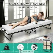 9.5cm Thick Mattress Portable Folding Camping Bed Indoor/Outdoor -Single