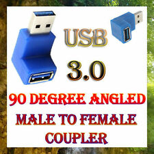 USB 3.0 A Male to A Female SuperSpeed 90 Degree Angled Adapter Coupler Joiner