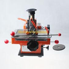 4mm Label Semi-Automatic Sheet Embosser Metal Stamping Printer Marking Machine