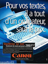 PUBLICITE ADVERTISING 065  1996  CANON  le traitement de texte STAR WRITER jet 3