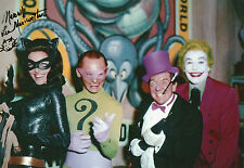 LEE MERIWETHER Signed 12x8 Photo CATWOMAN in BATMAN Photo Proof COA