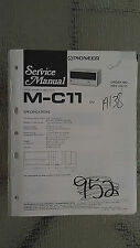 Pioneer m-c11 service manual original repair book stereo power amp amplifier