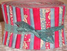 """20~Jelly Roll Fabric Strips Quilting Pink Blue White Floral Marble 2.5"""" Cotton"""