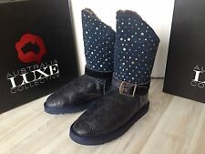 NIB Australia Luxe Treasure Boots Distressed Navy with studs size 8 $285