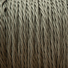 Khaki Twisted Trenzado Tejido Cable 3-core 0.5 mm para el alumbrado