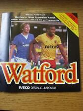 20/11/1984 Watford v West Bromwich Albion [Football League Cup] (Item has no app