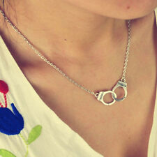 Fashion Jewelry Handcuffs Choker Pendant Necklace Women Valentine's Day CA93