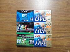 Mixed Lot of 6 JVC FUJIFILM SONY DVC Mini DV Camcorder Tapes New Sealed