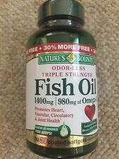 Nature's Bounty Fish Oil 1400 mg Odor-Less Triple Strength 39 Softgels