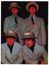 VINTAGE POSTER~Beatles In Straw Hats Suits 1964 Young Original Music Print New~