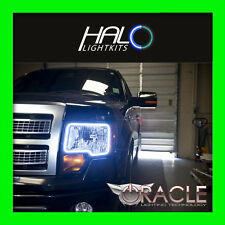 2009-2015 ORACLE Ford F150 & Raptor WHITE LED Halo Angel Eye Headlight Rings 2PC