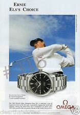 OMEGA SEAMASTER AQUA TERRA WATCH ADVERTISEMENT 2003 ERNIE ELS GOLF BRITISH OPEN