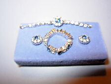 "Franklin Mint Princess Diana 3 Pc. ""Diamond"" & ""Saphire"" Jewelry Set Tonner/Ivy"