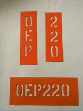 Military rear diff 'OEP220' Stencil Land Rover LIGHTWEIGHT 90 110