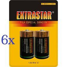 Confezione 12 Pile Batterie ExtraStar C R14/2B 1.5V Mezze Torce moc