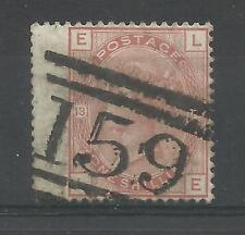 1873/80 SG 151, 1/- ARANCIONE (SPRAY filigrana) PIASTRA 13, (LE) molto fine utilizzato.