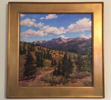 Award WinningTeresa Vito Oil Painting Shrine Pass Vail Colorado Large Gore Range