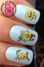 NAIL ART WATER TRANSFERS DECALS STICKERS SPONGEBOB SQUAREPANTS GARY SNAIL #501