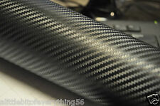 "3D Top Grade BLack 12"" x 60""  Carbon Fiber Vinyl Wrap Bubble Free Air Release"