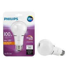 18W Philips LED 100W Equivalent Soft White A19 Dimmable Bulb 1600 Lumens 2700K