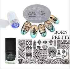 6Pcs Born Pretty  Nail Art Plaque de Stamping Ethnique Vernis /Kit de Tampon