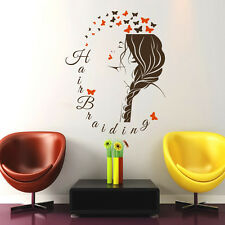 Wall Decals Beauty Salon Hair Hairdresser Hairstyle Braiding Girl Sticker ML106