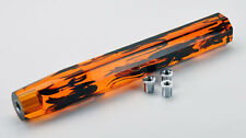 JDM Crystal Bubble VIP Dildo 300mm Gear Shift Knob Orange Black Tiger Swirl