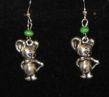 Mouse Earrings - You pick the Bead Color..