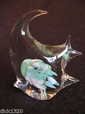 VINTAGE  MURANO TYPE ART GLASS ANIMAL PAPERWEIGHT 'ANGEL FISH' EX