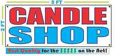 CANDLE SHOP BANNER Sign NEW Larger Size Best Quality for the $$$