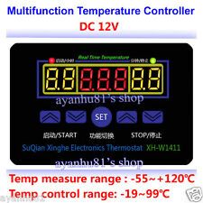 DC 12V 10A Multifunction Digital Temperature Controller Thermostat Control+Probe
