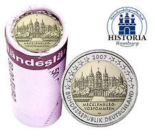 25 x 2 Euro Deutschland 2007 bfr.Schloss Schwerin Mzz. F in Sichtrolle