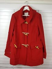 COUNTRY ROAD sz L (or 14 ) womens red duffle coat / Jacket NEW + TAGS [#1018]