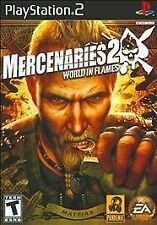 Mercenaries 2: World in Flames (Sony PlayStation 2, 2008) PS2 Includes Game Only