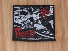 THE MISFITS - BULLET (NEW) SEW ON W-PATCH OFFICIAL BAND MERCH