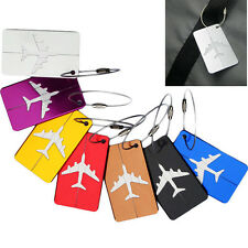 Travel Luggage Bag Tag Aluminium Suitcase Baggage Office Name Address ID Label