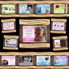 10 Einladung Danksagung Taufe Geburt Hochzeit Kommunion Konfirmation Karten