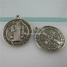 11968 25PCS St Benedict Peace PAX Cross Pendant Charms Exorcize Demon Vintage