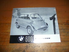 Prospekt Sales Brochure BMW 600 Auto Car 1997 Boxermotor 4-Gang   автомобиль