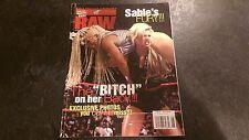 WWF RAW Magazine - 1998 June - Sable Diva - RARE Wrestling w/ Case WWE!