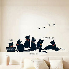 Black Cats Removable Art Vinyl Quote Wall Stickers Decal Mural Home Decor