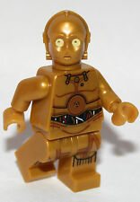 1 Original Lego Star Wars Droid C3PO de 75136 2016 Oro Genuino Lego