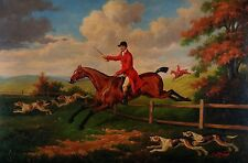 """Original Oil Painting on Stretched Canvas 24""""X36"""" Horse Riding"""