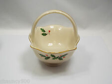 Lenox Holiday Holly & Berries Basket