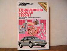 THUNDERBIRD - COUGAR 1980-91 Repair Manual Chilton